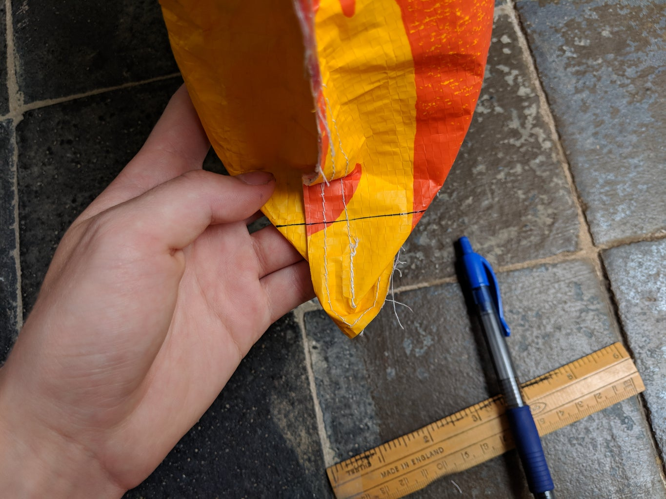 Sewing the Bag