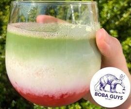 Strawberry Matcha Latte (from Boba Guys)