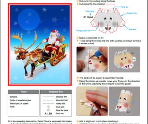 Making Santa Claus 3D Model (reindeer – Sled – Santa Claus )