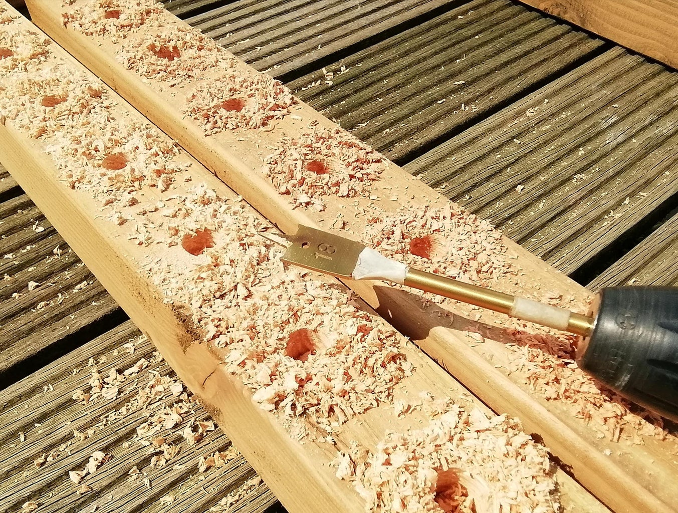 Drill the Holes for the Rebar
