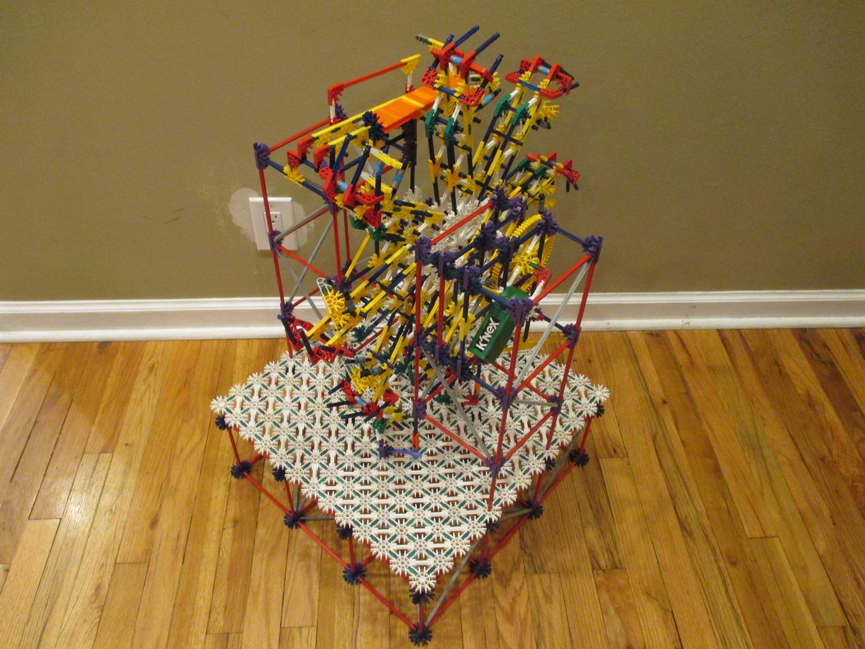 Floor Ferris Wheel Lift - a K'nex Ball Machine Lift