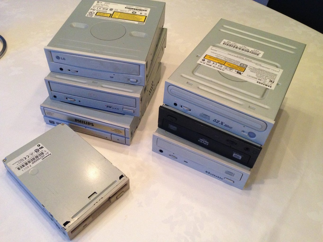 Decommissioning and Salvaging Part From Our CD/DVD Drives