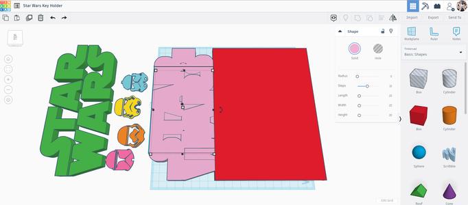 Designing the Keyholder Backplate