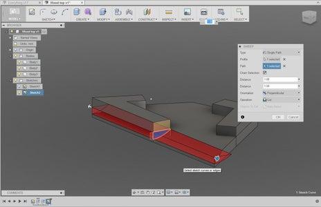 3D Modelling - Wooden Top