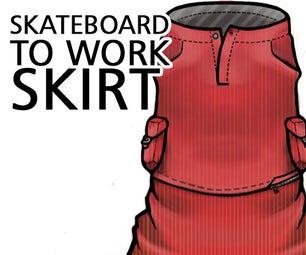 Skateboard to Work Skirt Made in SketchBook Pro
