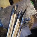 How to affix arrowheads to a shaft