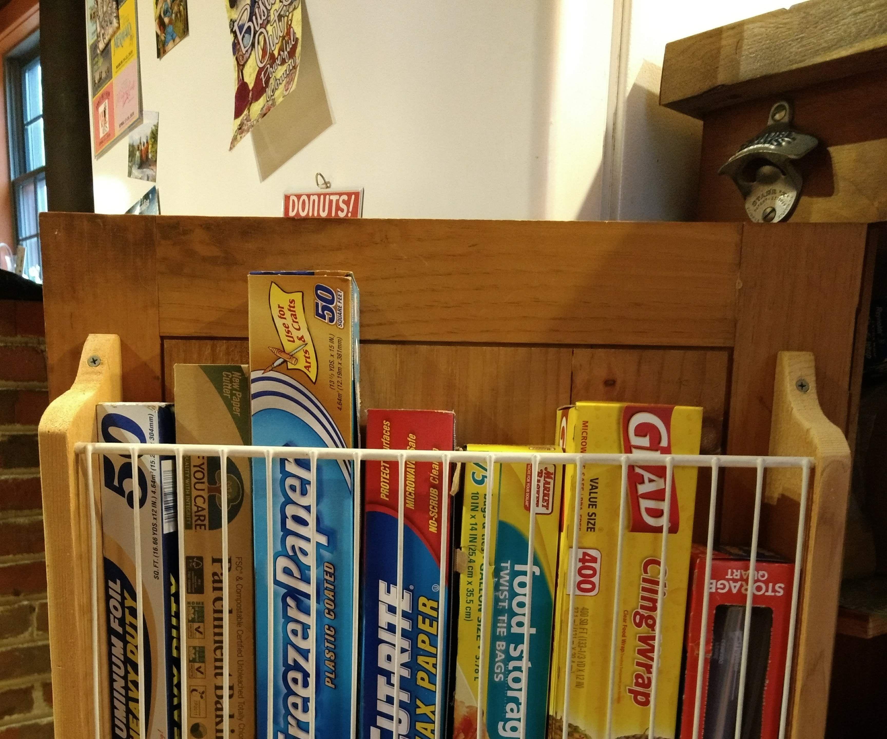 Inside Cabinet Door Kitchen Wrap Organizer Holder Using Wire Shelving