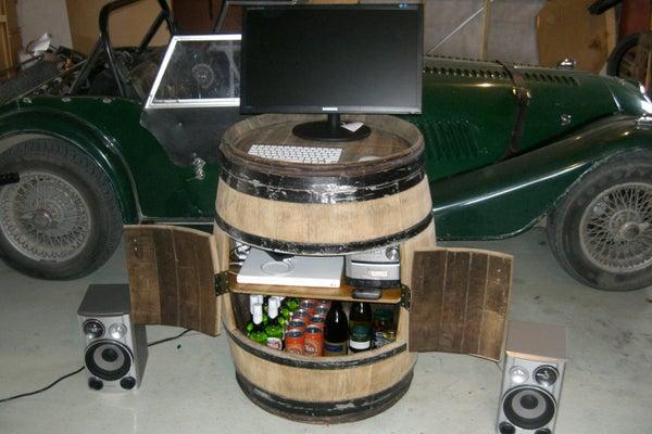 Convert a Wine Barrel Into a Cabinet