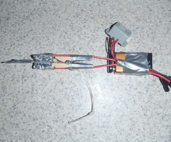 Clothespin Trip Wire Alarm