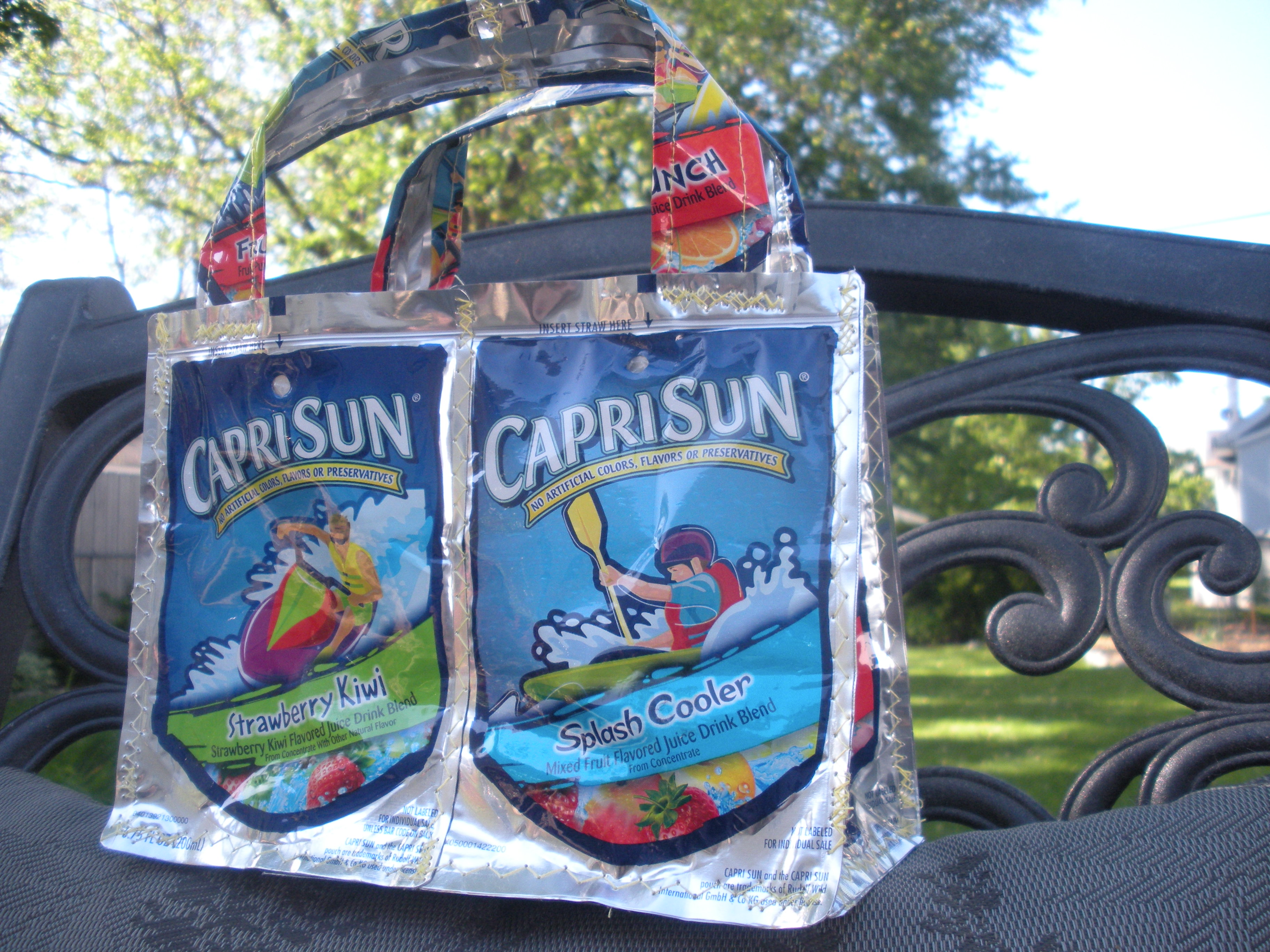 Recycled Juice Pouch Purse.
