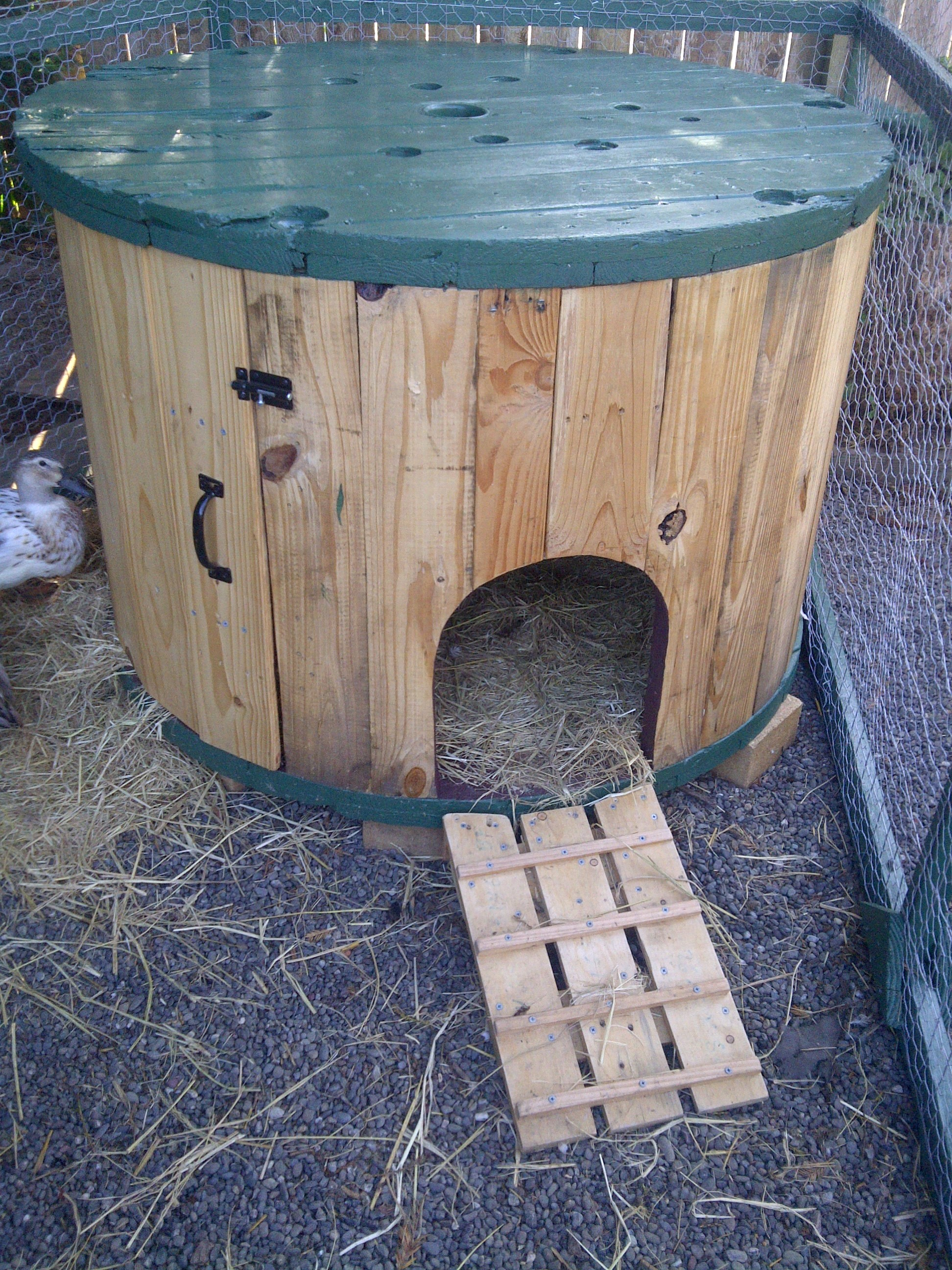 Cable Spool Duck House