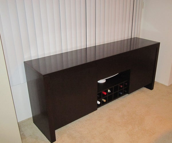 Bowling Alley Sideboard With Wine Storage
