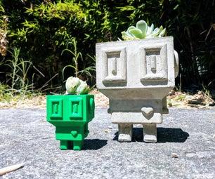 Lovebot❤ a Cement Planter
