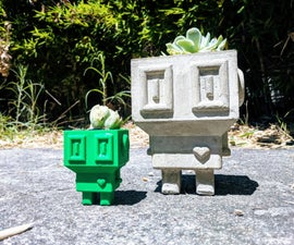 Lovebot❤ a Cement Planter