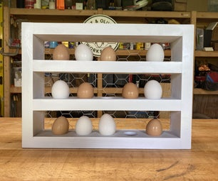 DIY农家式鸡蛋纸盒架
