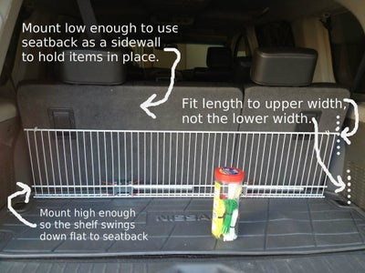 Trim Shelf and Legs to Fit Your Trunk