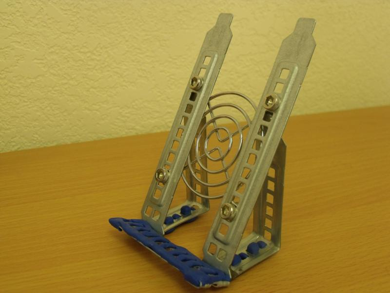 Funky Industrial Smartphone Stand from spare parts