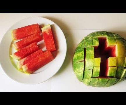 How To Cut a Watermelon Into Slices