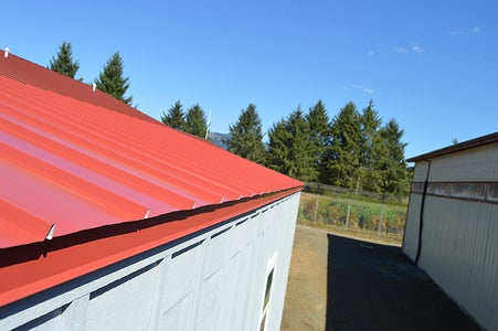 Attaching the Metal Roof