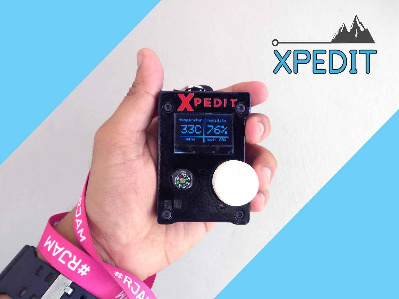 Xpedit - Atmosphere Monitoring Device for Hiking and Trekking