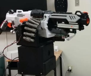 WiFi / Internet / Android Controlled Nerf Vulcan Sentry Gun