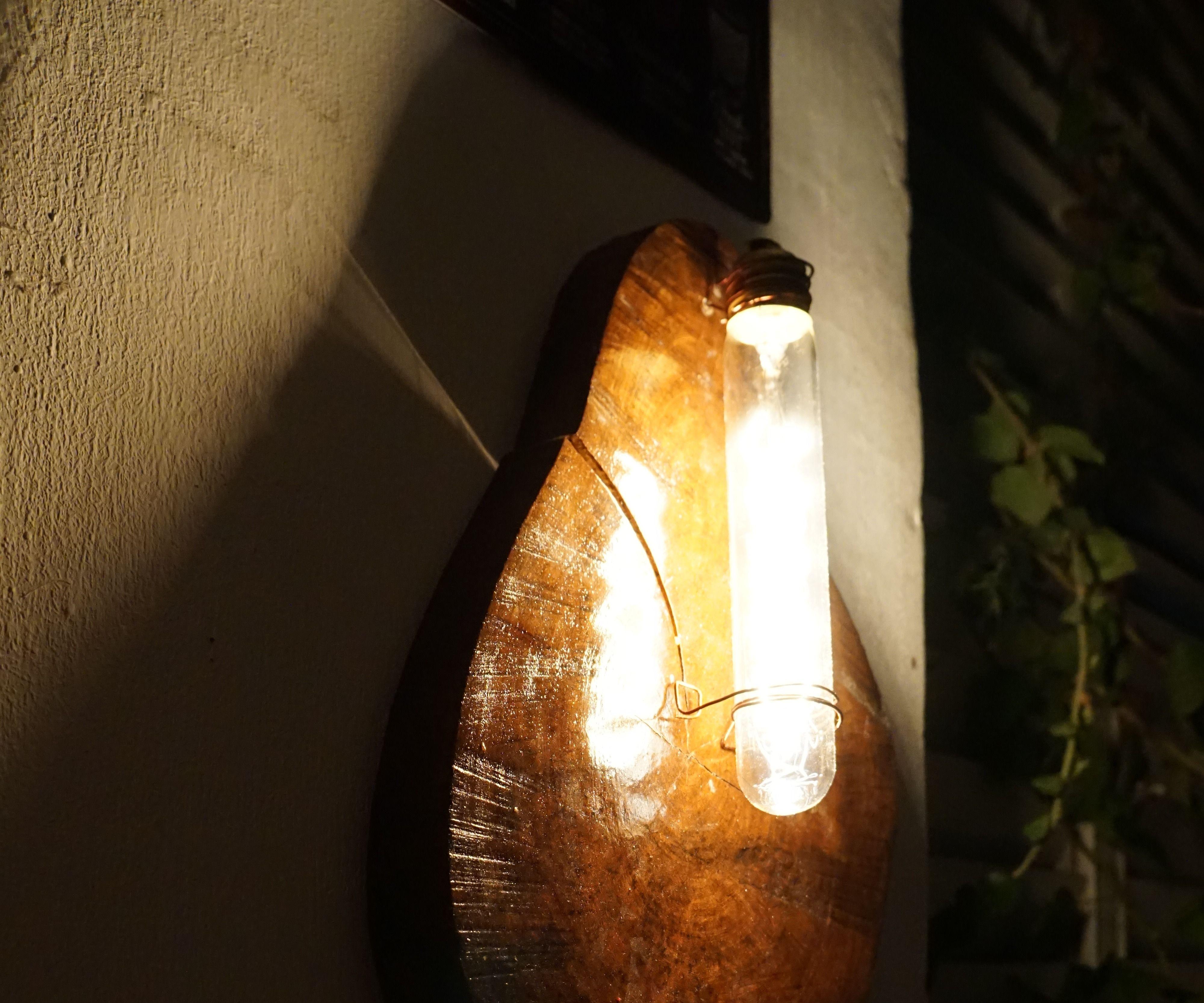Copper Wood lamp