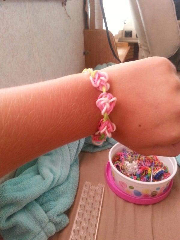 Rainbow Loom Rose Garden Bracelet