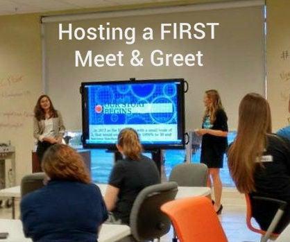 Hosting a FIRST Meet & Greet