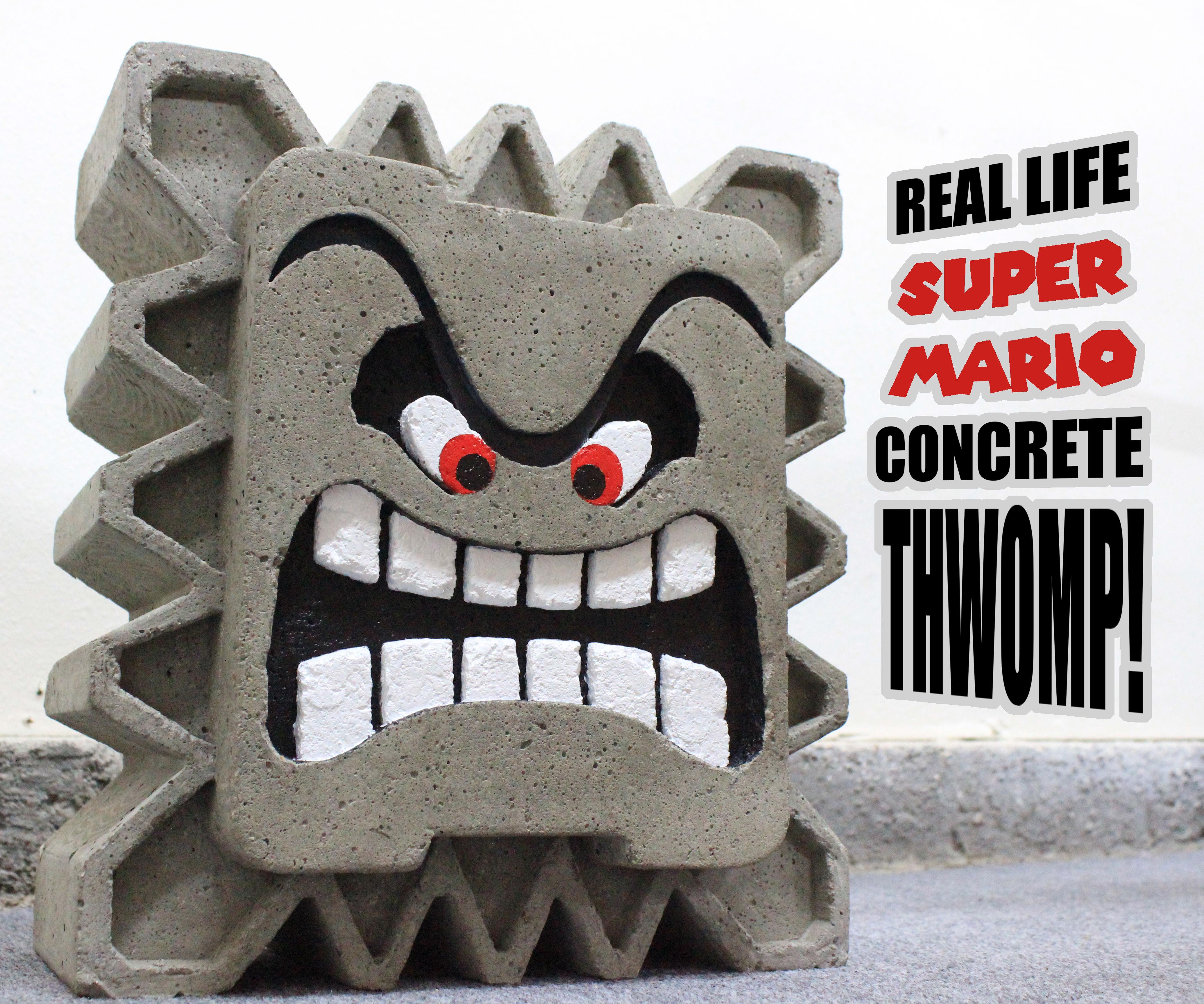 Real Life Super Mario Concrete Thwomp!