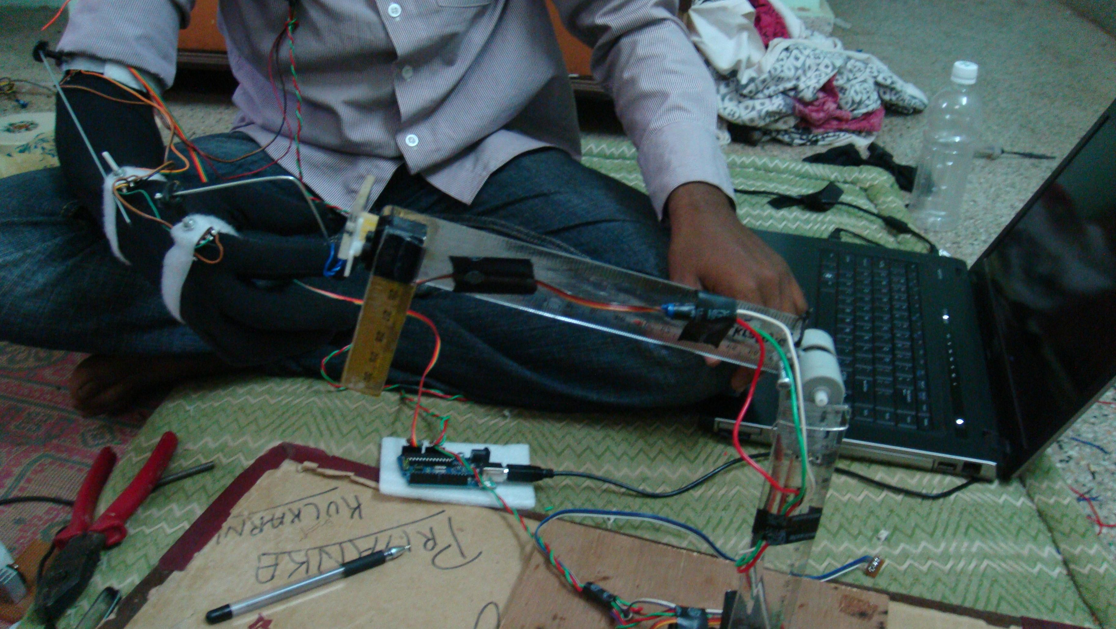 Interactive robotic hand using arduino...