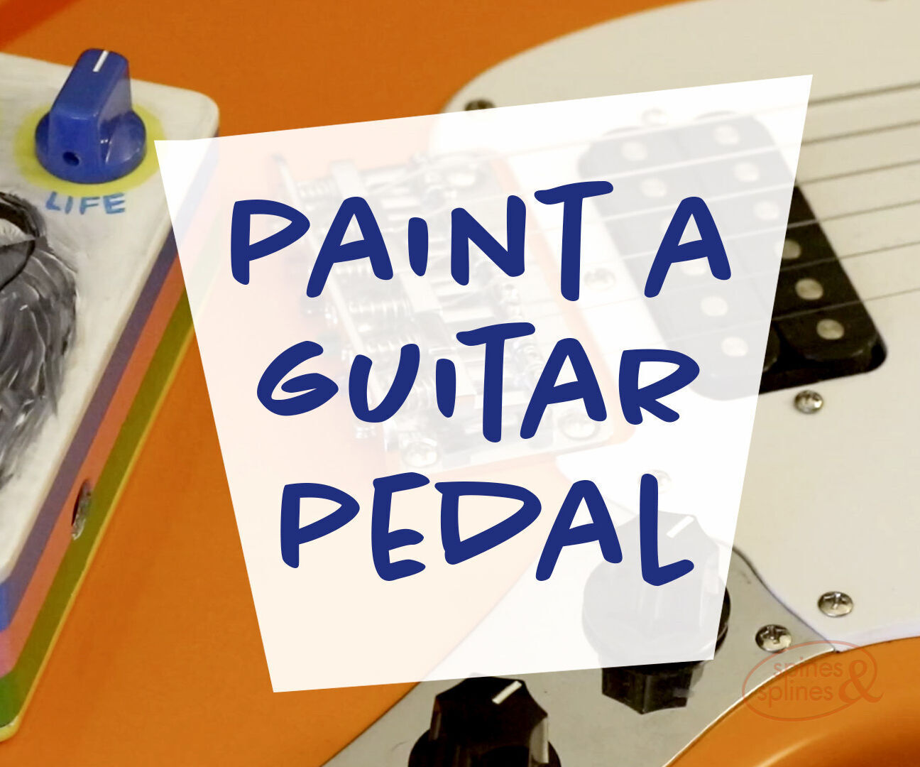 Hand Painting a Guitar Pedal