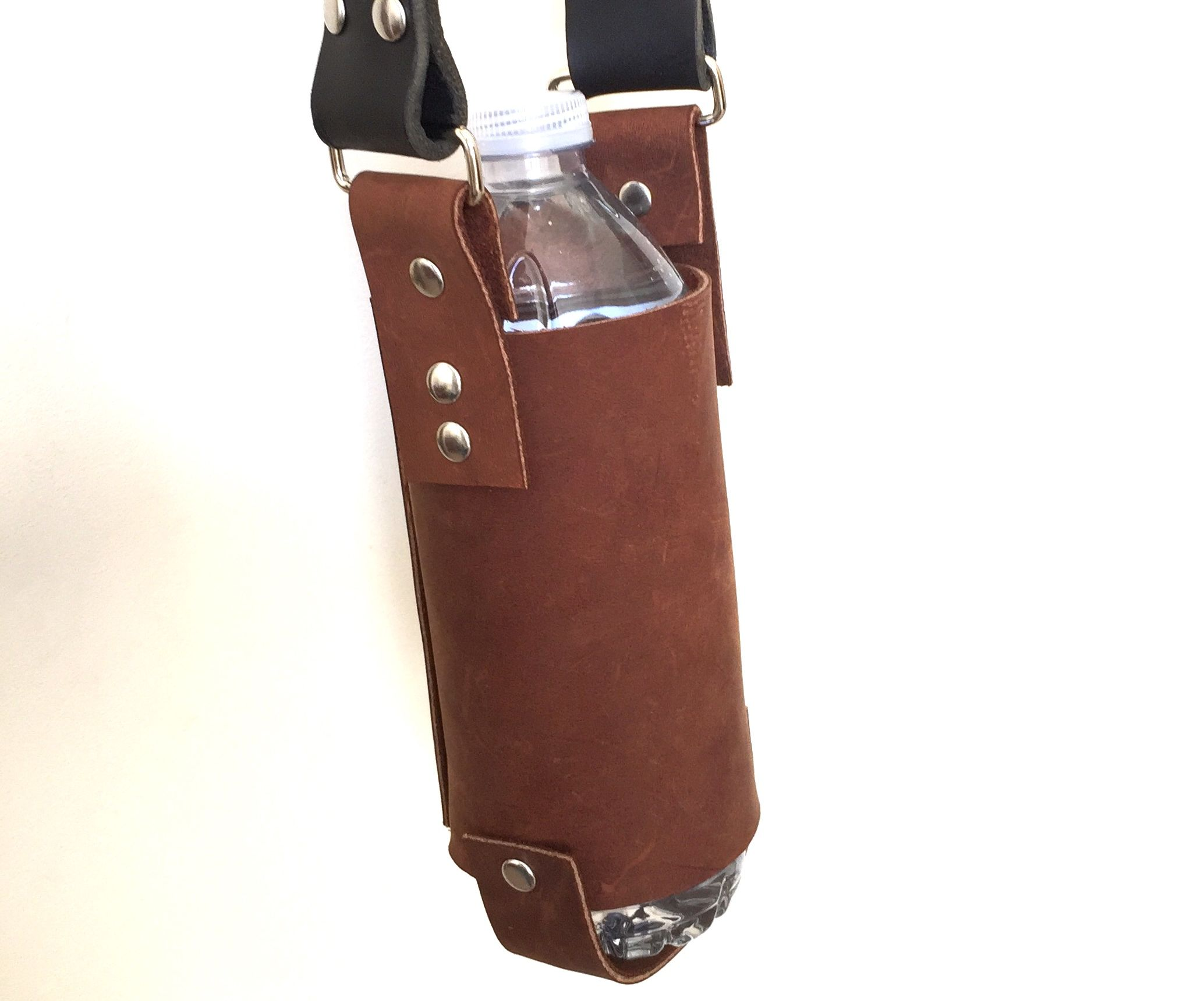 How to Make a Leather Water Bottle Holder / Holster