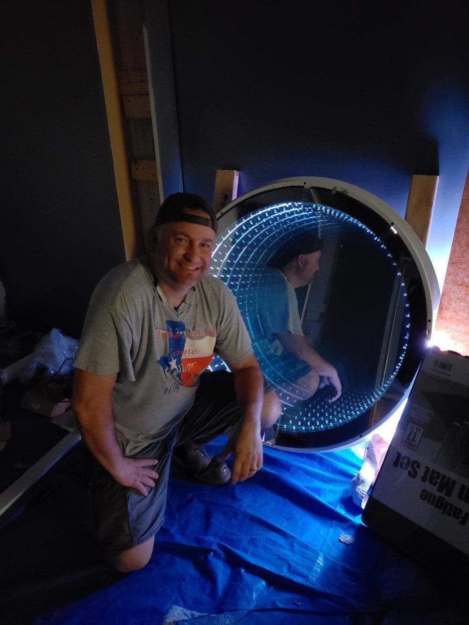 Built Vortex Exhaust Intake Manifold. (Huge Infinity Mirror)