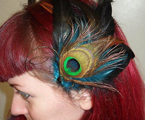 DIY Feather Fascinator