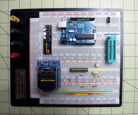 Burn Arduino Bootloader on Atmega-328 TQFP and DIP Chips on Breadboard