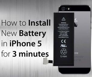 如何用5个简单的步骤在iPhone5中安装新电池