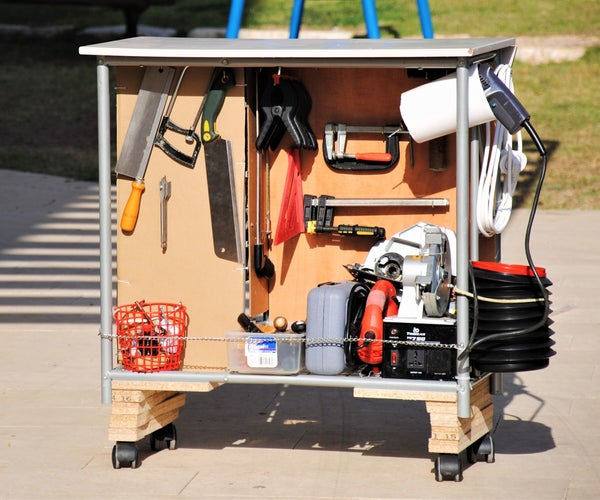 Rolling Tool Cart Workstation With TONS of Storage!