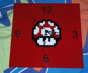 Mario Mushroom Clock