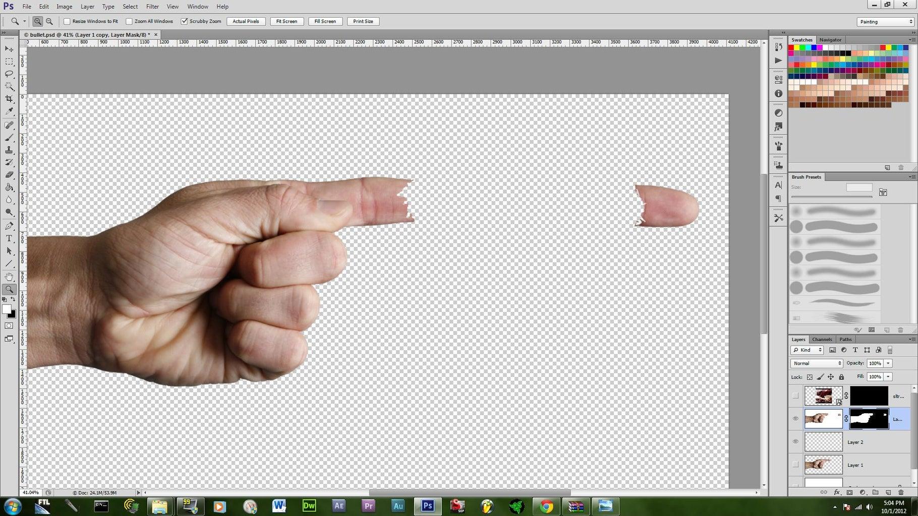 Making Ripped Finger
