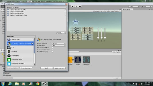 7. Adding Particles, Scene and Build It!