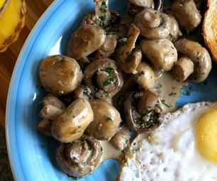 Creamy Garlic Mushroom Recipe