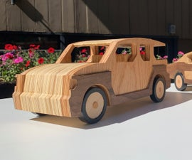 CNC Wooden Car Toy