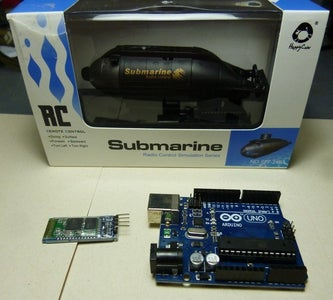 RC Submarine Hack - Android Controller (Arduino, Android, Submarine, Bluetooth)