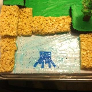 Minecraft World Cake