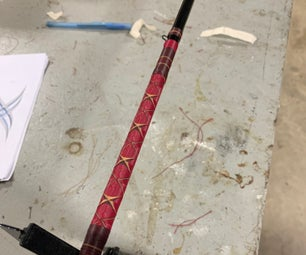 Custom Fishing Rod Thread Art