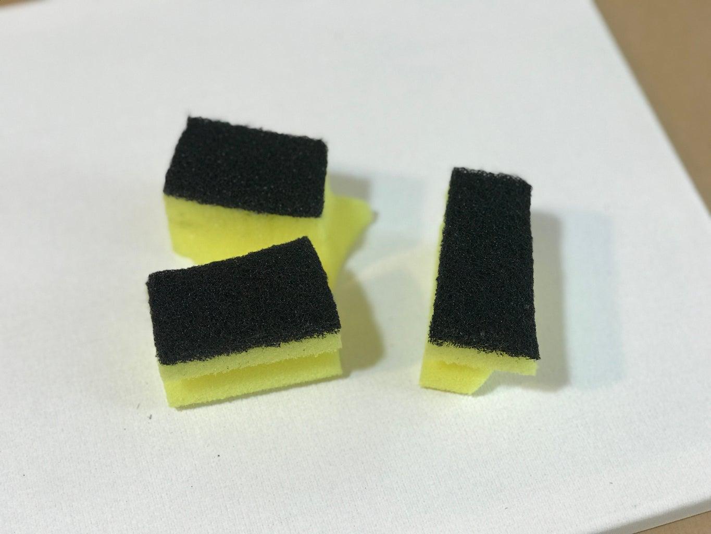 Cut You Sponge in a 3 Pieces.