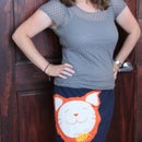 Simple skirt with applique from two t-shirts