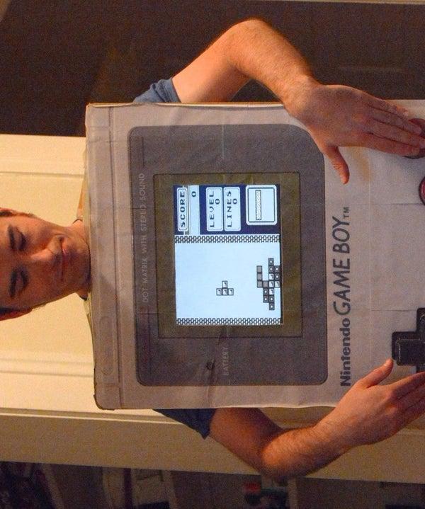Playable Giant Gameboy Costume