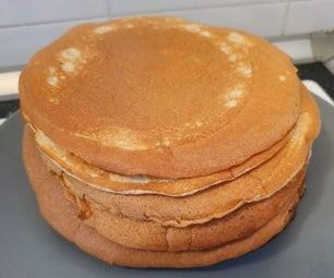 快速蛋白质煎饼没有糖或黄油