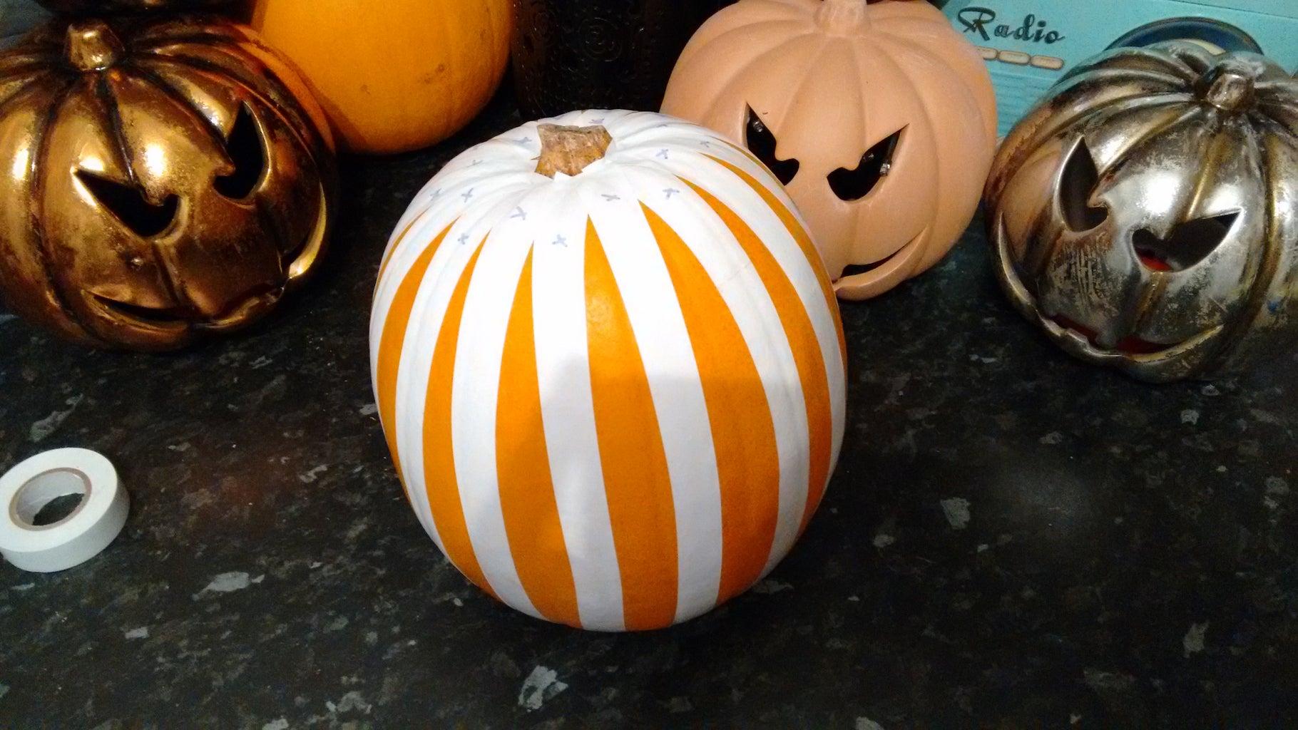 Mark Pumpkin With Tape